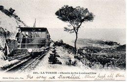 FRANCE -- LA TURBIE -- CPA Précurseur -- Chemin De Fer à Crémaillère - La Turbie