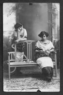 TEATRO ESPAÑOL - CARIDAD In Costume W. Hat Autograph Dedicacee 1913 Photo PC Palacio De Alcoy - Fotos Dedicadas