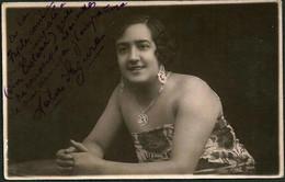 TEATRO ESPAÑOL - LOLA SEGURA Autograph Dedicacee 1910's Photo PC - Fotos Dedicadas