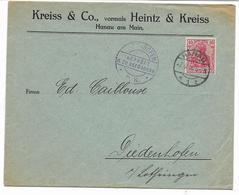 7.6.16-  HANAU    Lettre KREISS &Co  HANAU AM MAIN  Voir Cachet  DIEDENHOFEN - P.K.  GEPRÜFT U.ZU.BEFORDERN   Voir Scans - Germania