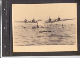"""PHOTO - 13 - BERRE L' ETANG - BASE,  Gros HYDRAVION De La MARINE à 4 HELICES, """"CASTOR"""" Format 24cm Sur 18 - Aviation"""