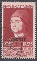 TRIESTE ZONA A - 1953 - Yvert 156 Usato. - Usati