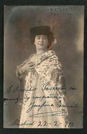 TEATRO ESPAÑOL - JOSEFINA EDUARTE In Spanish Costume Autograph Dedicacee Madrid 1912 Photo PC A. Nieto - Puerta Del Sol - Fotos Dedicadas