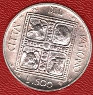 CITTA'DEL VATICANO 500 LIRE 1977 KM# 132 Paul VI Argent 835‰ Silver - Vatican