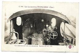 TRAIN - LES LOCOMOTIVES FRANCAISES (Etat) - Vue Intérieure De L'abri Du Mécanicien - Machine 140-006 - Tramways