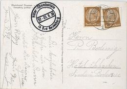 Bad Godesberg 1938 Hitler-Chamberlain-Treffen - Rückseitig: Rheinhotel Dreesen - Allemagne