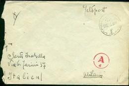 V9200 ITALIA RSI 1944 Lettera In Franchigia Posta Da Campo D 000 2.6.44(Feldpost 84345/F Manoscritto Sul Retro)per Milan - Storia Postale