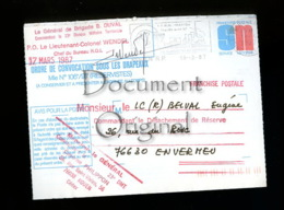 A Saisir - Militaria - Corresp. - Ordre De Convocation Sous Les Drapeaux - 17 03 87 - Envermeu 76 - Voir Photos - Militaria