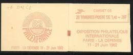Carnet 2102-C8 Sabine De Gandon 1,40 Rouge Couverture Code Postal Conf 8 - Carnets