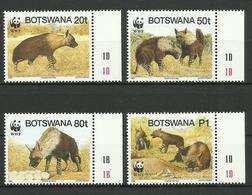 BOTSWANA  1995  WWF,HYENA SET   MNH - Nuovi