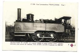 TRAIN - LES LOCOMOTIVES FRANCAISES (Etat) - Machine Tender 21-687 - Tramways