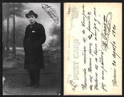 TEATRO ESPAÑOL - R. PANAGUINI ? Autograph Dedicacee Buenos Aires 1920 Photo PC By Faig - Fotos Dedicadas