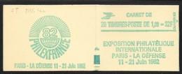 Carnet 2155-C4a GT Sabine De Gandon 1,60 Rouge Couverture Philexfrance - Markenheftchen