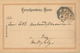 "Ganzsache Graz Ortskarte 6.9.1897 ""An"" - 1850-1918 Empire"