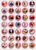 35 X Marilyn Monroe Movie Film Fan ART BADGE BUTTON PIN SET 14 (1inch/25mm Diameter) - Films