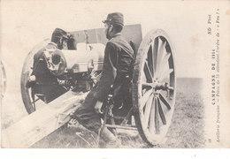 """CPA ARTILLERIE FRANCAISE - CAMPAGNE DE 1914 - PIECE DE 75 ATTENDANT L' ORDRE DE """"FEU !"""" - Guerra 1914-18"""
