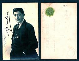 TEATRO ESPAÑOL - A. GOMBAU ? Autograph Dedicacee 1915 Photo PC By Navarro Martinez De Valparaiso - Fotos Dedicadas