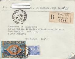 LSC Recommandé 1969 - SETIF - Cachet BORDJ  BOU  ARRERIOJ - Argelia (1962-...)