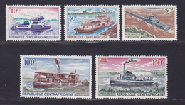 CENTRAFRICAINE N°  112 à 114, AERIENS 65 & 66 ** MNH Neufs Sans Charnière, TB (D8689) Bateaux Vapeurs Fluviaux - 1968 - Centrafricaine (République)