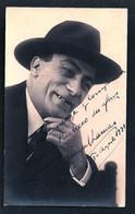 TEATRO ESPAÑOL - MIGUEL LAMAS ? Autograph Dedicacee 1921 Photo PC By BIXIO - Fotos Dedicadas