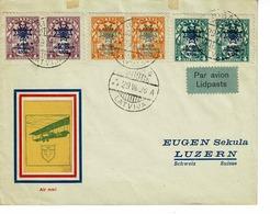 AVIATION , LETTONIE, SUISSE LUZERN,1928 - Letland
