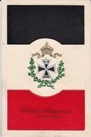 AK Glückwünsche Zum Neuen Jahre - Krone Eisernes Kreuz Lorbeer Flagge - Patriotika - 1914 (39727) - Neujahr