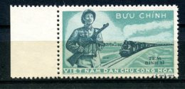 Vietnam, 1959, Train, Railroad, Military, Postage Due, MNH, Michel 4 - Viêt-Nam