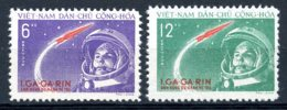 Vietnam, 1961, Space, Gagarin, Astronaut, Cosmonaut, MNH, Michel 166-167 - Viêt-Nam
