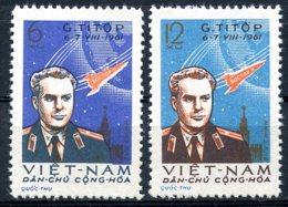 Vietnam, 1961, Space, Titov, Astronaut, Cosmonaut, MNH, Michel 181-182 - Viêt-Nam