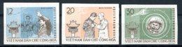 Vietnam, 1962, Space, Titov, Astronaut, Cosmonaut, MNH Imperforated, Michel 217-219 - Viêt-Nam