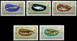 Vietnam, 1963, Fish, Animals, Fauna, MNH, Michel 270-274 - Viêt-Nam
