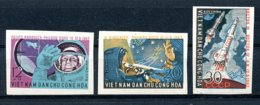 Vietnam, 1962, Space, Vostok, Rockets, MNH Imperforated, Michel 240-242 - Viêt-Nam