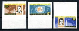 Vietnam, 1964, Space, Vostok, Astronauts, Cosmonauts, Tereshkova, MNH Imperforated, Michel 298-300 - Vietnam