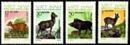Vietnam, 1973, Animals, Fauna, MNH, Michel 731-734 - Viêt-Nam