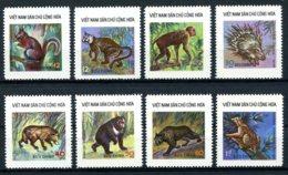 Vietnam, 1976, Animals, Fauna, MNH, Michel 843-850 - Viêt-Nam