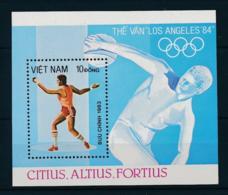 Vietnam, 1983, Olympic Summer Games Los Angeles, Discus, MNH, Michel Block 20 - Viêt-Nam