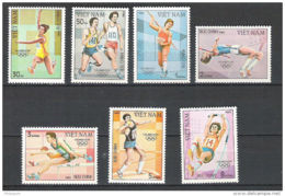 Vietnam, 1983, Olympic Summer Games Los Angeles, MNH, Michel 1344-1350 - Viêt-Nam