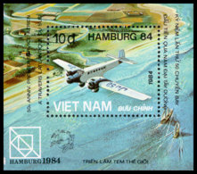 Vietnam, 1984, UPU World Postal Congress Hamburg, United Nations, Airplane, MNH, Michel Block 28 - Viêt-Nam