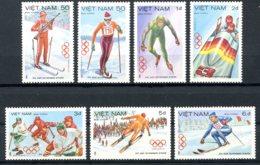 Vietnam, 1984, Olympic Winter Games Sarajevo, Sports, MNH, Michel 1402-1408 - Viêt-Nam
