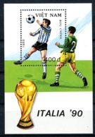 Vietnam, 1989, Soccer World Cup Italy, Football, MNH, Michel Block 72 - Viêt-Nam