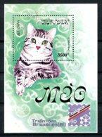 Vietnam, 1990, Cats, Belgica Stamp Exhibition, MNH, Michel Block 77 - Viêt-Nam