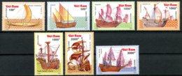 Vietnam, 1990, Sailing Ships, Boats, Vessels, MNH, Michel 2196-2202 - Viêt-Nam