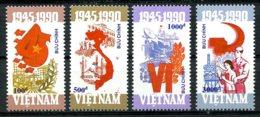 Vietnam, 1990, Socialist Republic, 45th Anniversary, MNH, Michel 2236-2239 - Viêt-Nam