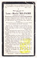 DP Leon H. Belpaire ° Wijtschate Heuvelland 1862 † Voormezele Ieper 1926 X Prudence P. Hoorelbeke - Images Religieuses