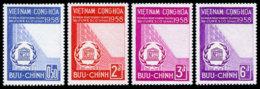 Vietnam, South, 1958, UNESCO, New Headquarters, United Nations, MNH, Michel 164-167 - Viêt-Nam