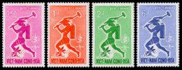 Vietnam, South, 1962, Fight Against Malaria, Paludisme, WHO, United Nations, MNH, Michel 262-265 - Viêt-Nam