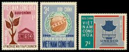 Vietnam, South, 1966, UNESCO, United Nations, MNH, Michel 375-377 - Viêt-Nam