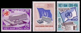 Vietnam, South, 1966, World Health Organization, WHO, Headquarters, United Nations, MNH, Michel 368-370 - Viêt-Nam