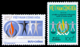 Vietnam, South, 1973, Human Rights Declaration, United Nations, MNH, Michel 540-541 - Viêt-Nam