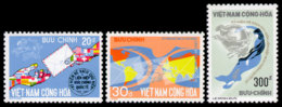 Vietnam, South, 1974, UPU Centenary, Universal Postal Union, United Nations, MNH, Michel 572-574 - Viêt-Nam